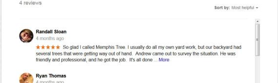 Customer Testimonials on Google